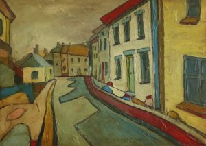 painting-cornwall-landscape-village-mousehole-houses