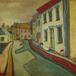 painting-cornwall-landscape-village-mousehole-houses