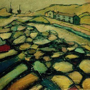painting-cornwall-landscape-porthcurno-pemberth-fishing
