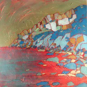painting-cornwall-landscape-beach-tincoast-portheras