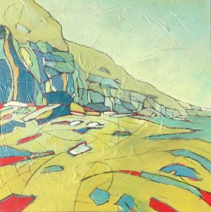 painting-cornwall-seascape-tregardock-tintagel
