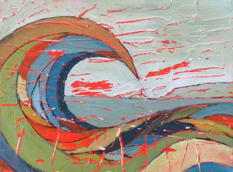 painting-cornwall-wave-gwithian-penwith