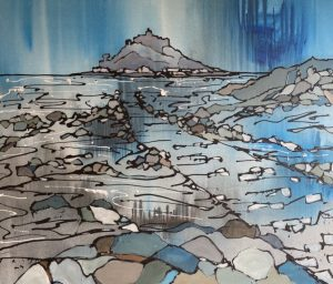 painting-cornwall-st michaels mount-sea-penwith