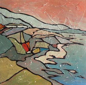 painting-cornwall-landscape-Prussiacove-seascape